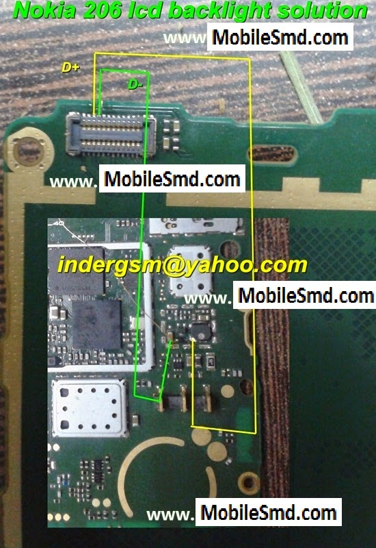 Nokia 206 Lcd light Jumper Solution ~ ALL MOBILE SOLUTIONS