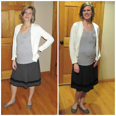 An Ode to the Friend Who Lent Me Some Stylish Maternity Clothes -- I just about barfed when I got out my tired old maternity clothes and surveyed them in all their frumpy glory. Then my friend stepped in to save the day. {posted @ Unremarkable Files}