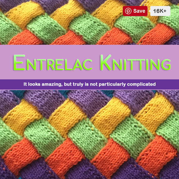 Entrelac Knitting Patterns For Your Next Project.  Entrelac hat, entrelac wrap, entrelad shawl, entrelac blanket, entrela throw