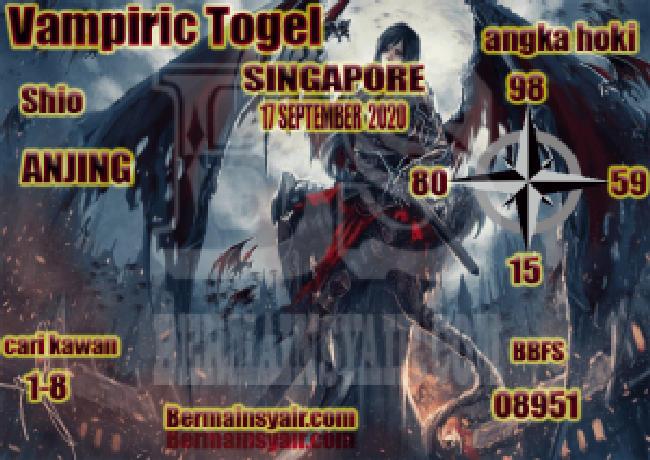 Kode syair Singapore Kamis 17 September 2020 285