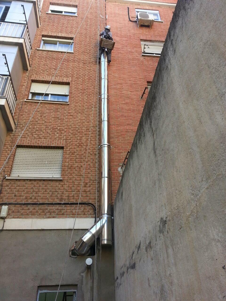 descuelgue para montar tubos
