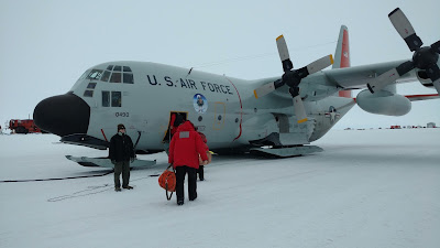 C-131 airforce plane to fly me back to New Zealand from Antarctica during PhD research expedition, things to pack for your antarctic expedition, how to phd blog