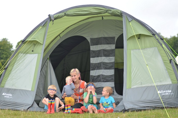 festival camping, camping with children, Wilderness festival, Eurohike rydall 600 6 man tent