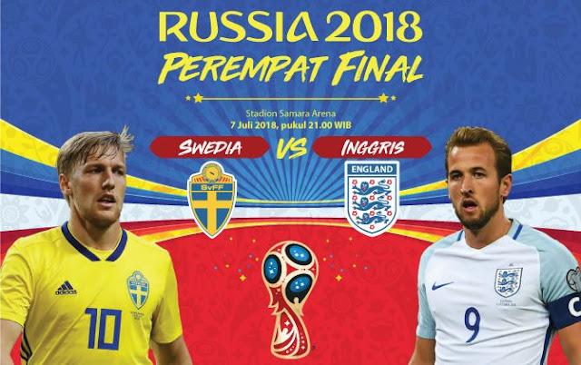 Prediksi Bola Swedia vs Inggris Piala Dunia 2018
