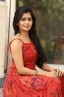 Actress Madhumitha Stills in Red Dress at Lajja Movie Press Meet  0031.jpg