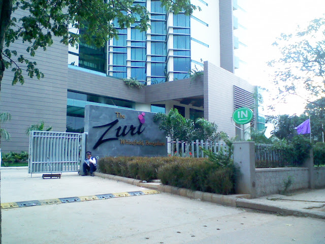 The Entrance of Zuri Hotel Bangalore