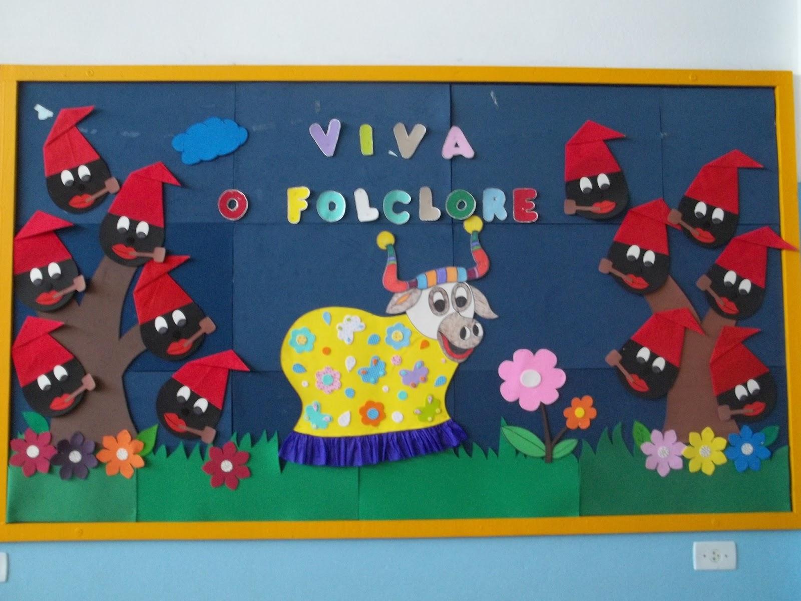 Painel Dia Do Folclore: CRIANDO COM E.V.A: Folclore