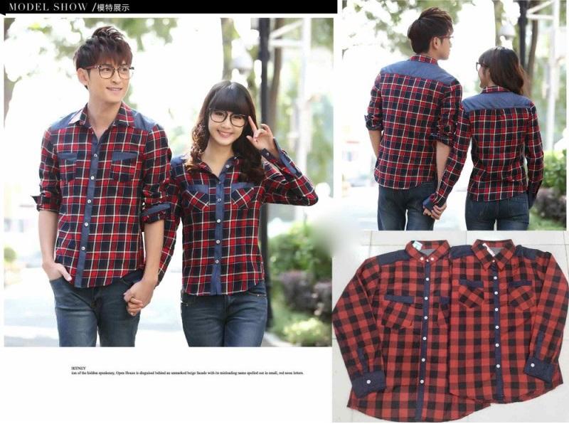 Jual Couple Kemeja Kemeja Red Box Murah Terbaru Bahan Cotton di  jakarta Trendy