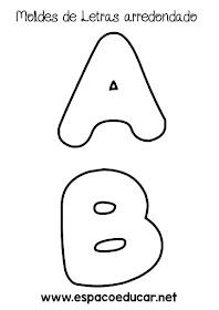 Moldes De Letras Arredondados Para Imprimir Ou Baixar Completo Em
