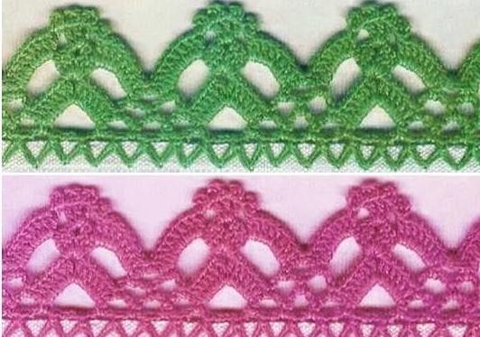 Patrón #1553: Terminación a Crochet.