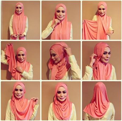 Tutorial Mmakai Hijab Segi Empat Tnapa Ciput
