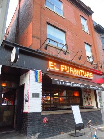 Gord And I Had Supper This Evening At El Furniture Warehouse (on Bloor  Street W At Bathurst Street).