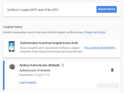 Pengaturan Keamanan Akun Google