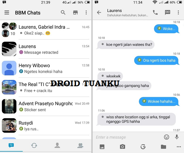 Download BBM Mod IOS Light v3.2.2.8 apk