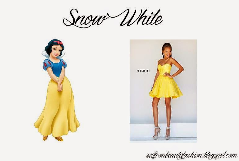 Modern Day Disney Princess Prom Inspiration Saffron