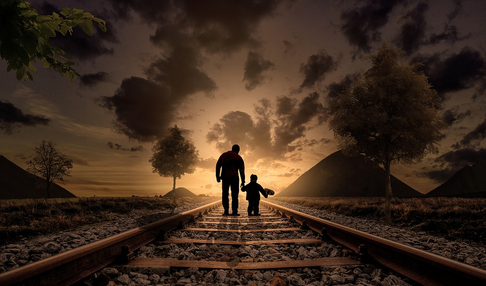 Father and Son Photoshop Photo Manipulation From Pixabay