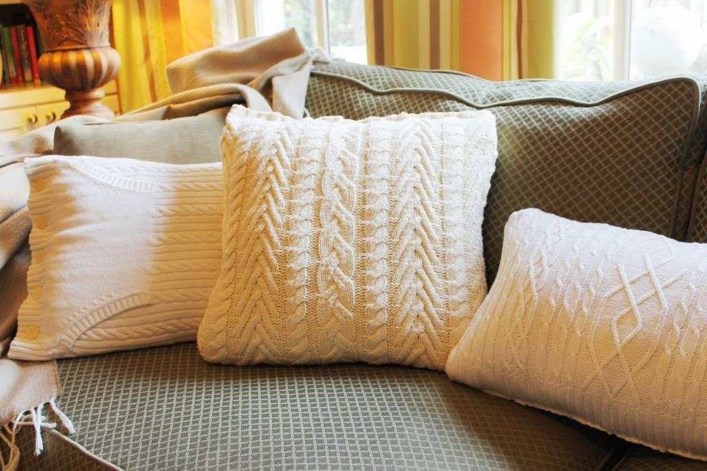 Make A Sweater Pillow In 30 Minutes Miss Kopy Kat