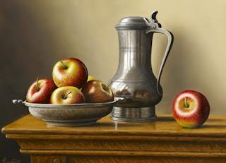 lienzos-con-limones-y-manzanas-pinturas cuadros-limones-pinturas