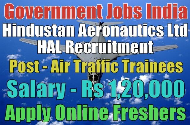 HAL Recruitment 2018 for Air Traffic Controller Trainees