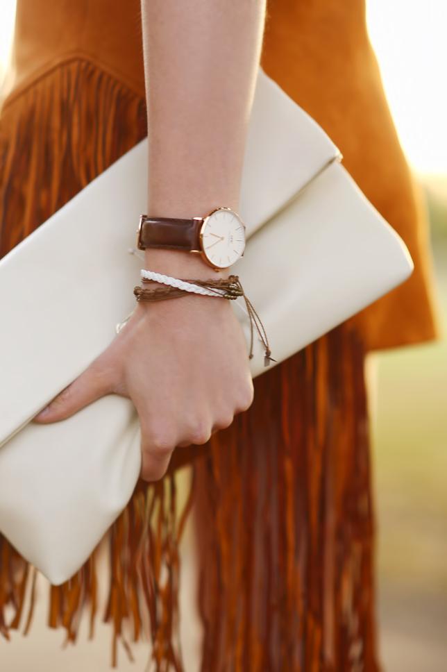 zegarek brązowy skórzany pasek