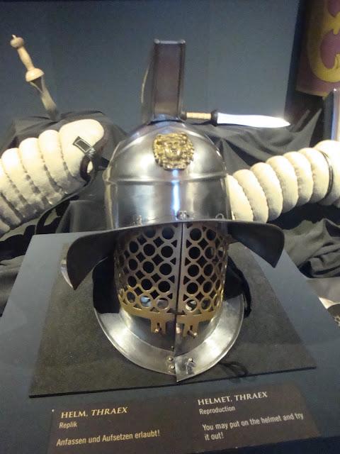 """exposição """"Gladiadores"""" em 2014 no Archäologisches Museum Frankfurt (Museu Arqueológico)"""
