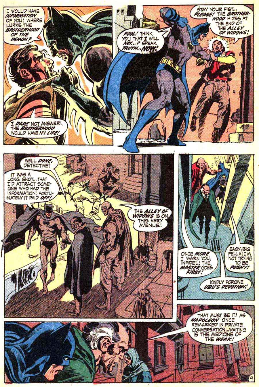 Batman v1 #232 dc comic book page art by Neal Adams