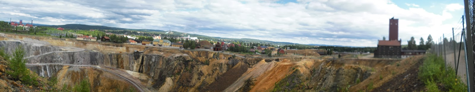 Panoramic picture taken at the Falun Mine