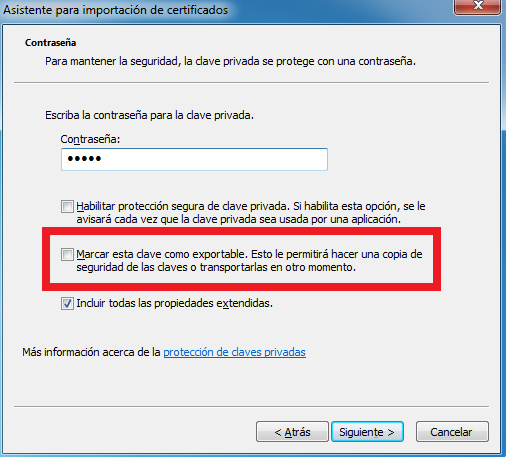 Windows: Exportar certificado digital no exportable