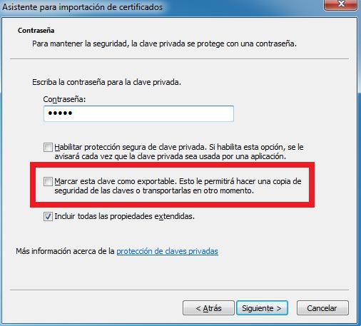Windows: Exportar certificado digital no exportable