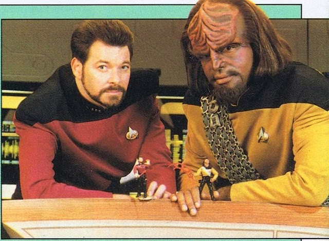 Star Trek Jonathan Frakes Michael Dorn Playmates Action Figure