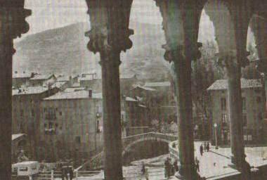 La Pobla de Lillet vista desde la Fonda Cerdaña