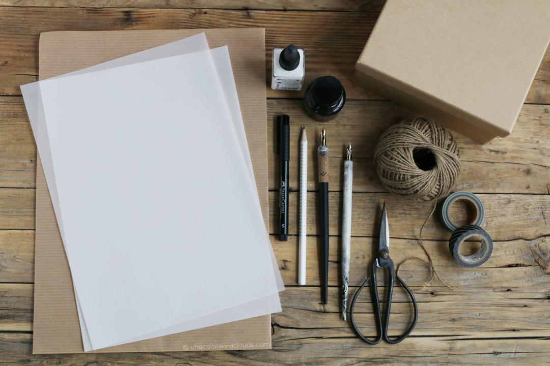 geschenke einpacken muttertag kalligraphie lettering