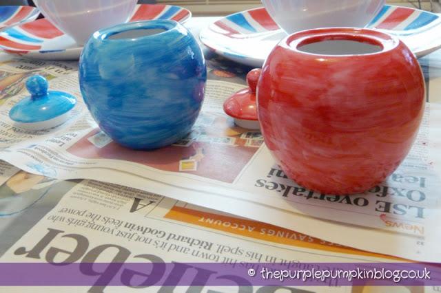Diamond Jubilee Hand Painted Crockery Jars