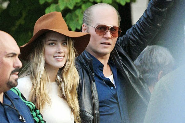 Amber Heard at last came to Johnny Depp on the set of Black Mass