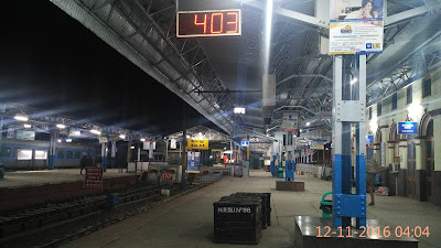 Kalka railway station is the northern terminus of the Delhi-Kalka line and the starting point of the UNESCO World Heritage Site Kalka–Shimla Railway. It is located in the Indian state of Haryana. It serves Kalka and passengers moving on to Shimla.