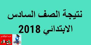 نتيجة الصف السادس الابتدائى محافظة الشرقية 2018 برقم الجلوس الترم الثانى