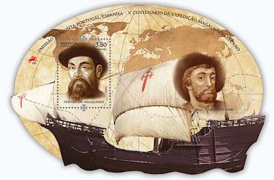 V Centenario de la Expedición Magallanes - Elcano - Bloque emitido en Portugal - 2019