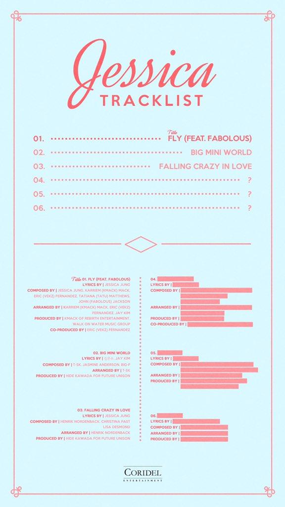 Jessica Jung solo album track list