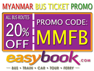 Diskon 20% Pembelian Tiket Bus Myanmar Via Easybook