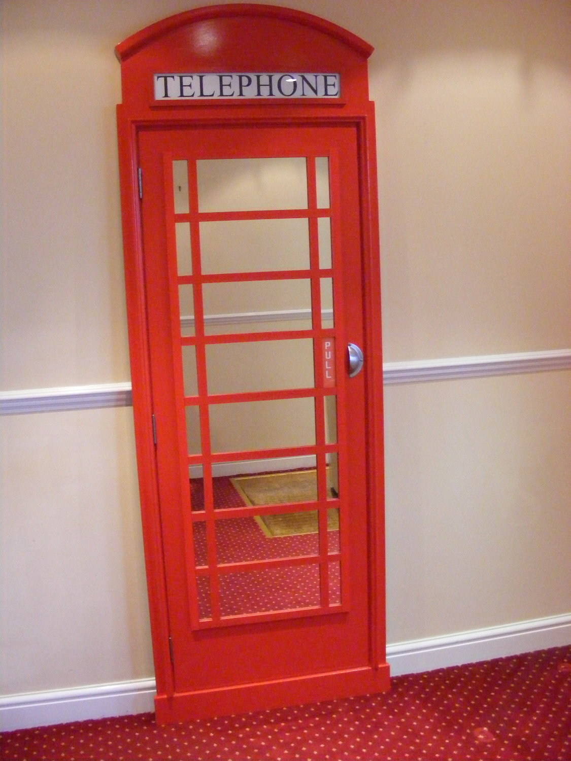 Millicent James Our First Order For Our Red Telephone Box
