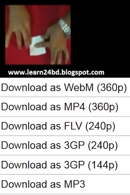 Click desire format to download