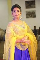 Actress Eesha in Yellow Choli Blue Ghagra at Darshakudu music launch 044.JPG