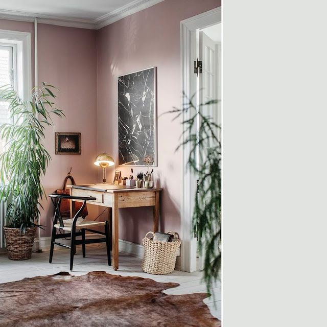 Pink home office decoration • the round button blog