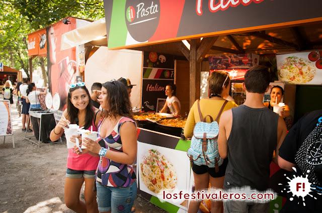 Puestos de comida en Sziget Festival