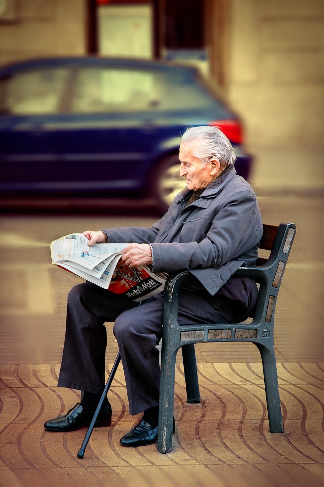 Elderly people in Barcelona