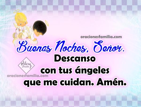 Buenas noches con oración a Dios corta y bonita antes de dormir, frases cristianas en oraciones de la noche por Mery Bracho.