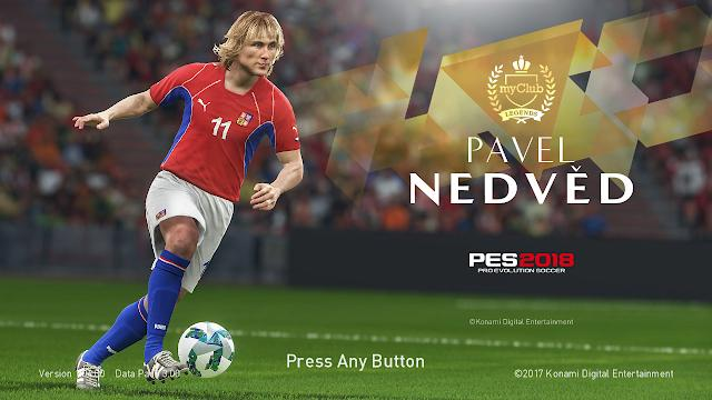 PES 2018 Nedvěd Action Start Screen by ABW
