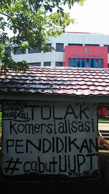 Galeri - Lema Unhas Bersatu Tolak Komersialisasi Pendidikan, Tuntut Cabut UUPT