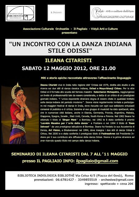 odissi roma seminario ileana citaristi spettacolo workshop