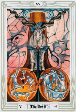 Crowley-Thoth Tarot trump The Devil XV